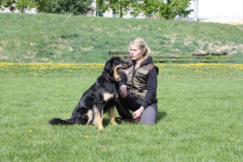 """Dyrka """"Kitty"""" och Lina på träningsdagen tidigare i år."""